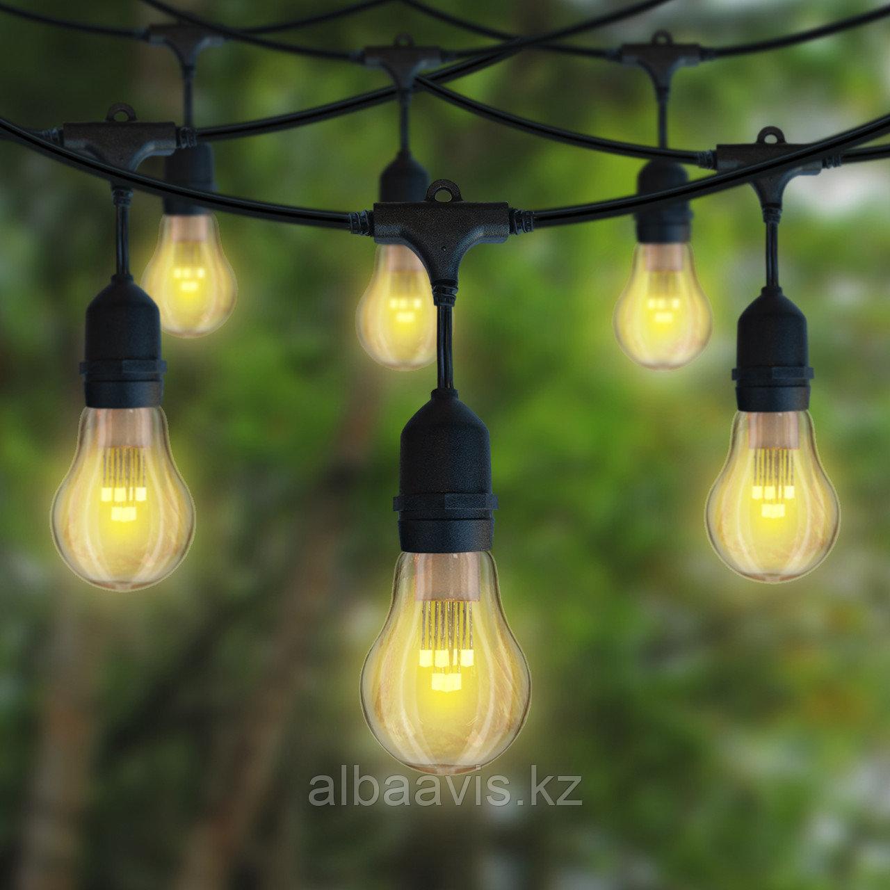 Гирлянды для кафе, 10 метров 20 ламп. Гирлянда с лампочками, гирлянда ретро, гирлянда для летней площадки