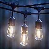 Гирлянды для кафе, 10 метров 20 ламп. Гирлянда с лампочками, гирлянда ретро, гирлянда для летней площадки, фото 2