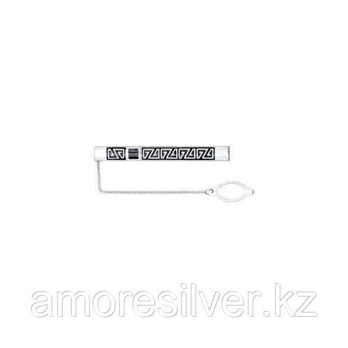 Зажимы для галстука SOKOLOV серебро с родием, эмаль 94090001