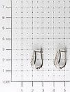 Серьги  серебро с родием, фианит синт., с английским замком, флора 121-1733, фото 2