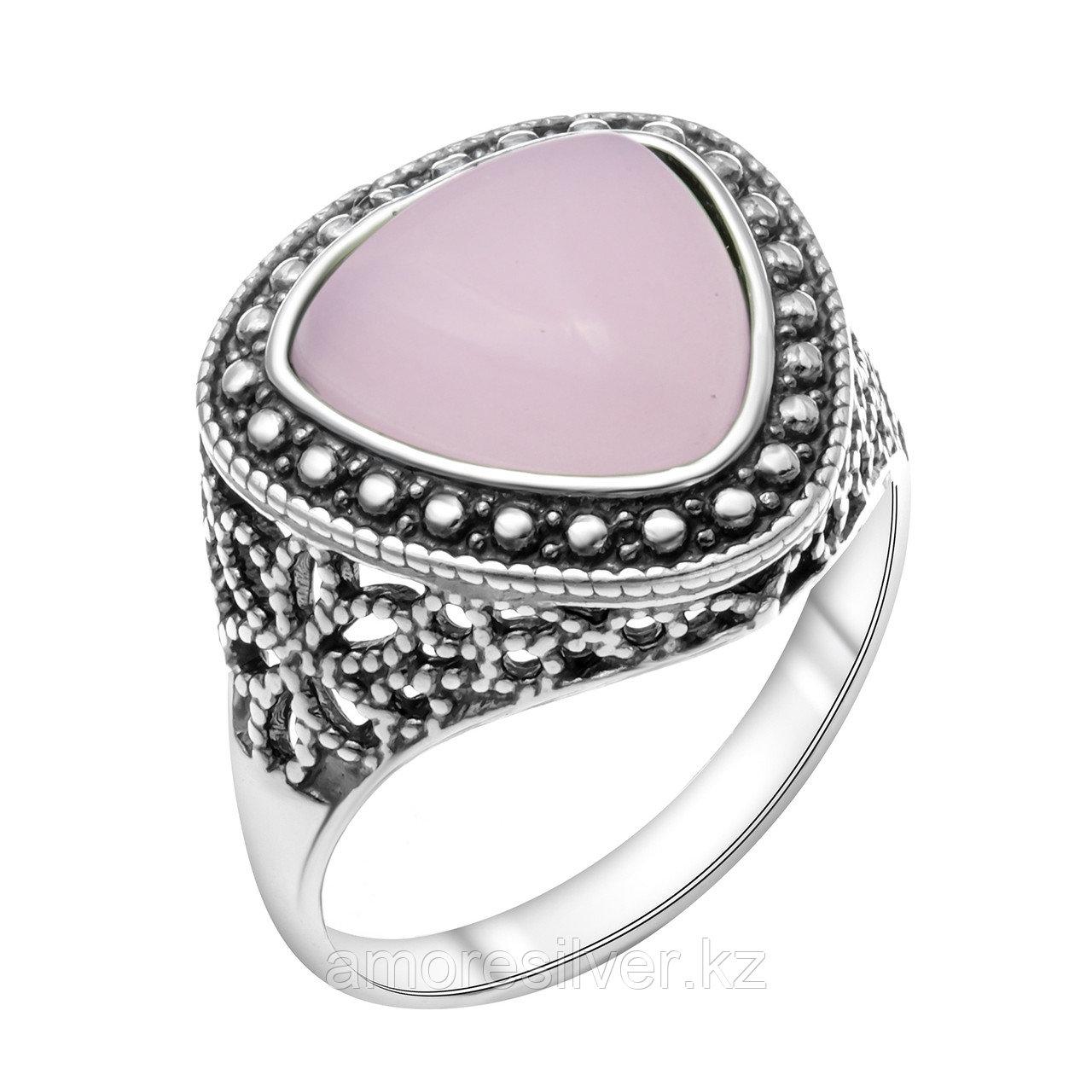 Кольцо Красная Пресня , кварц розовый, , треугольник 2339646К