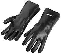 Перчатка химзащитная, черная 35см TOLSEN