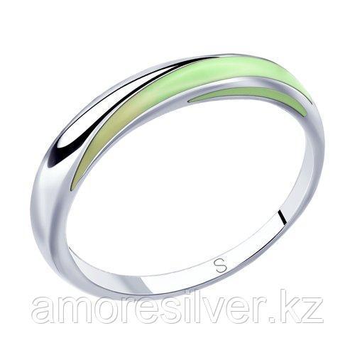 Кольцо SOKOLOV серебро с родием, эмаль 94012812 размеры - 19
