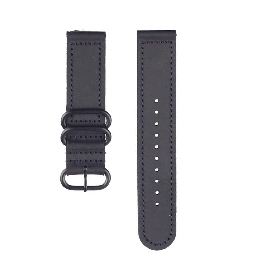 Ремешок кожаный для смарт часов 20 мм черный - фото 10
