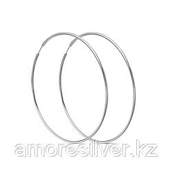Серьги Красная Пресня серебро с родием, без вставок, конго, гладкое 33010184Д