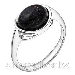 Кольцо Darvin серебро с родием, агат черный, , овал 920LB1014aa размеры - 17,5