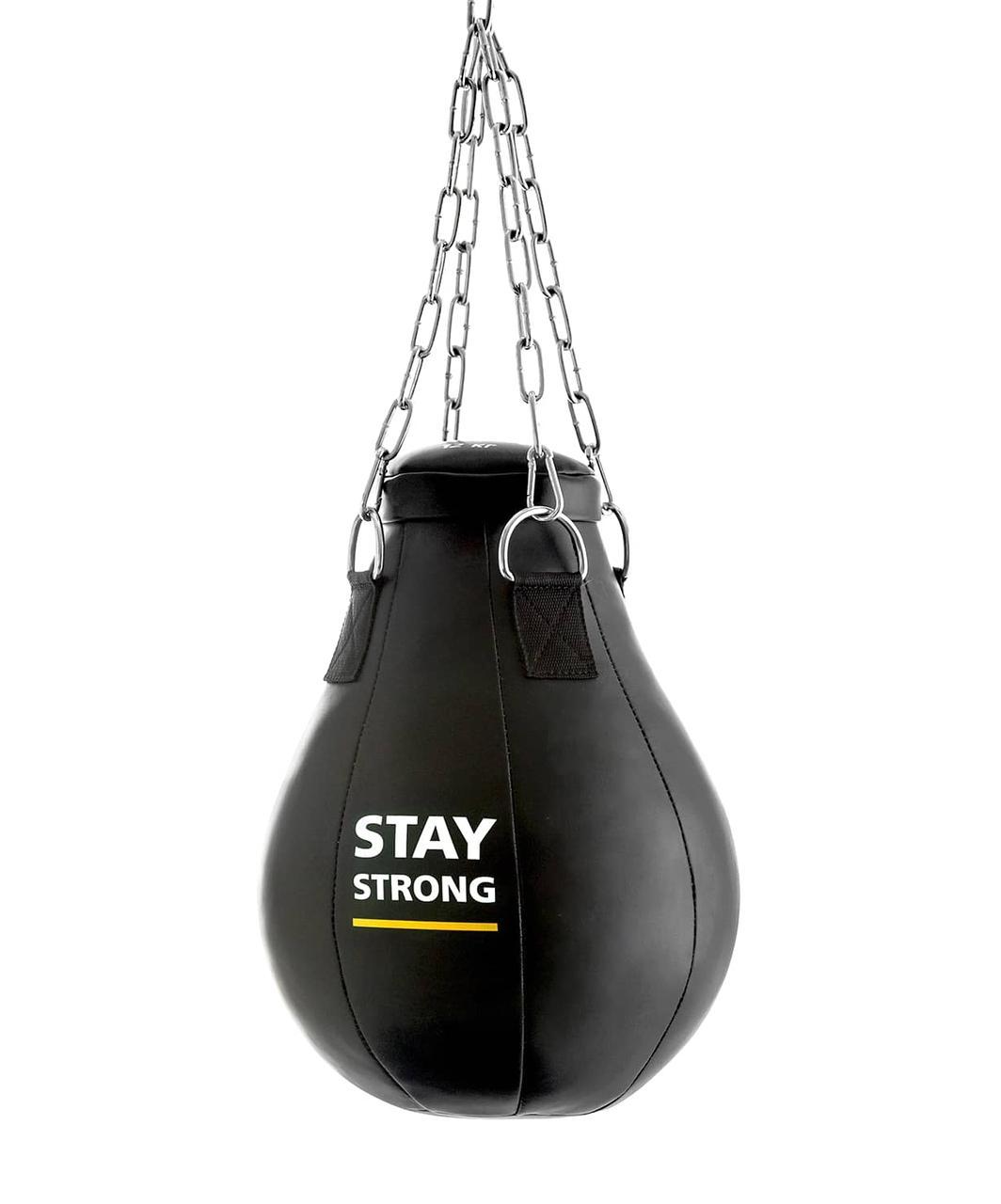 Груша боксерская E523, кожзам, 16 кг, черный Effort