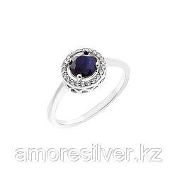 """Кольцо Teosa серебро с родием, сапфир фианит, """"halo"""" R-DRGR00485-SP размеры - 16"""