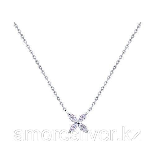 Колье SOKOLOV серебро с родием, фианит  94070176 размеры - 42