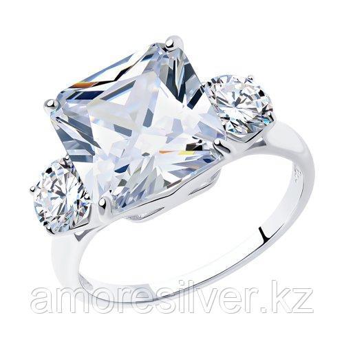 Кольцо SOKOLOV серебро с родием, фианит  94012077 размеры - 19