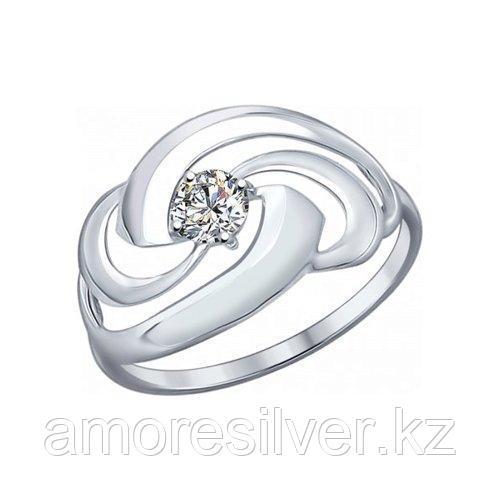 Кольцо SOKOLOV серебро с родием, фианит  94012159 размеры - 18