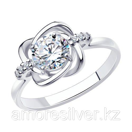 Кольцо SOKOLOV серебро с родием, фианит  94012693 размеры - 18,5 19