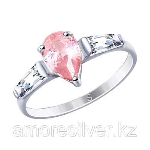 Кольцо SOKOLOV серебро с родием, фианит  94012746 размеры - 17 18 18,5 19 19,5
