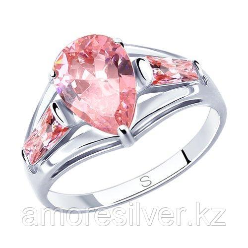 Кольцо SOKOLOV серебро с родием, фианит  94012818 размеры - 17,5 18 19