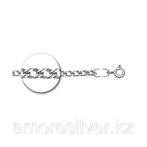 Браслет SOKOLOV серебро с родием, без вставок, ромб двойной 965040502 размеры - 16 17 18 19 20