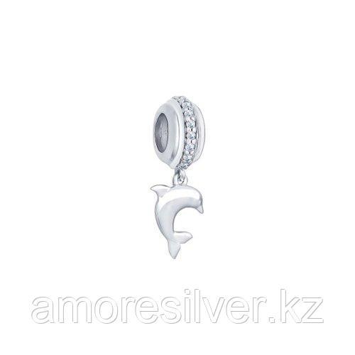 Подвеска SOKOLOV серебро с родием, фианит  94031660