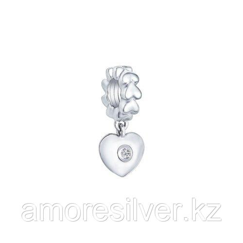 Подвеска SOKOLOV серебро с родием, фианит  94031564