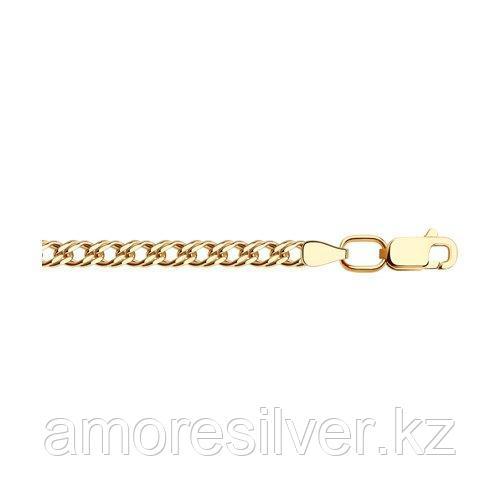 Цепь SOKOLOV серебро с позолотой, без вставок, ромб двойной 988040602 размеры - 70