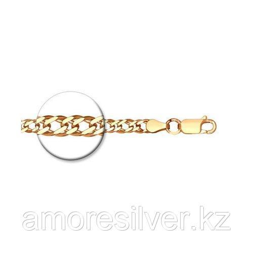 Цепь SOKOLOV серебро с позолотой, без вставок, ромб двойной 988040802 размеры - 50 55 60