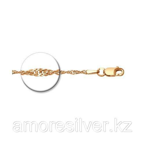 Цепь SOKOLOV серебро с позолотой, без вставок, сингапур 988090302 размеры - 45 50