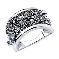 Кольцо SOKOLOV серебро с родием, кристалл swarovski 94013087 размеры - 16,5 17,5 18