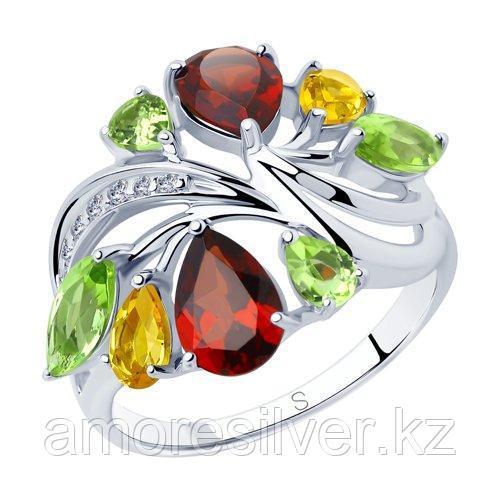 Кольцо SOKOLOV серебро с родием 92011833 размеры - 19