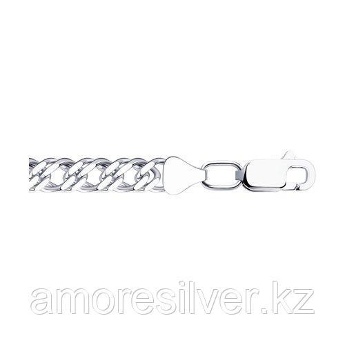 Цепь SOKOLOV серебро с родием, без вставок, ромб двойной 968041002 размеры - 50 55 60 65