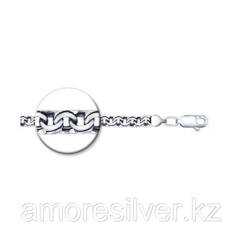 Браслет SOKOLOV из черненного серебра, без вставок, бисмарк 995140904 размеры - 18 19 20 21 22