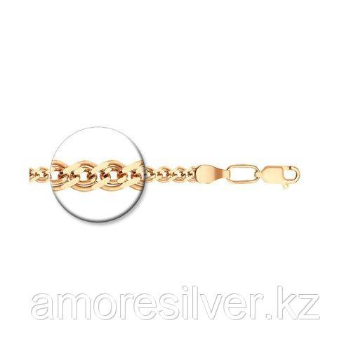 Цепь SOKOLOV серебро с позолотой, без вставок, нонна 988060602 размеры - 45 50 55 60 65