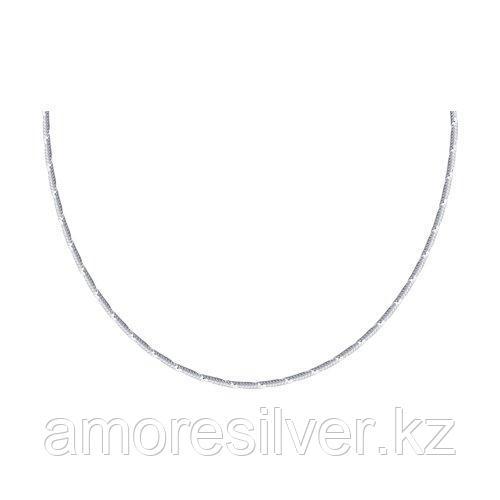 Цепь SOKOLOV серебро с родием, без вставок 94074526 размеры - 55