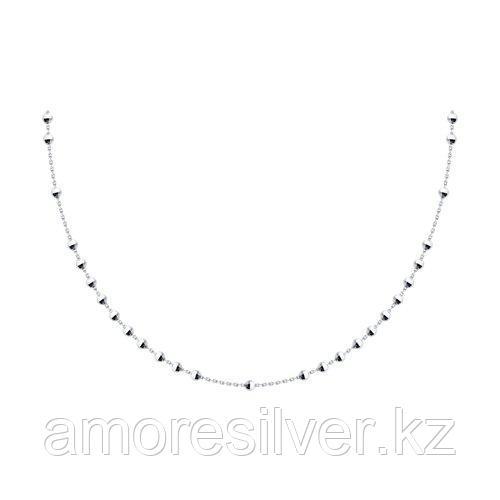 Цепь SOKOLOV серебро с родием, без вставок 94074644 размеры - 55
