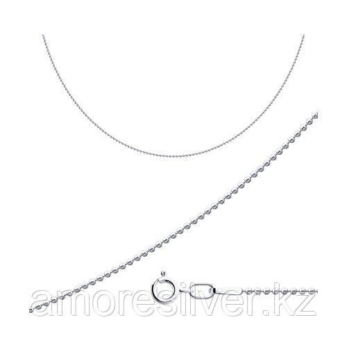 Цепь SOKOLOV серебро с родием, без вставок, фантазийные 94074645 размеры - 60