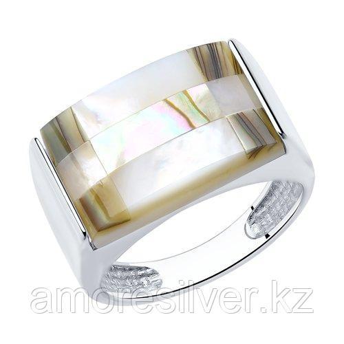Кольцо DIAMANT ( SOKOLOV ) серебро с родием, перламутр  94-310-00835-1 размеры - 16 17