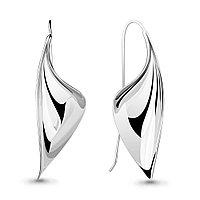 Серьги AQUAMARINE серебро с родием, без вставок, геометрия 33836.5