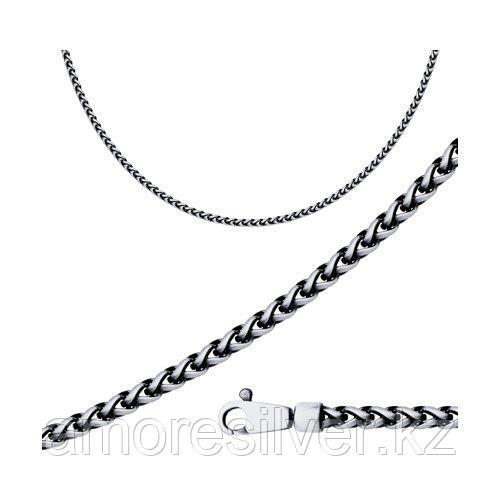 Цепь SOKOLOV из черненного серебра, без вставок, фантазийные 94074670 размеры - 60 65