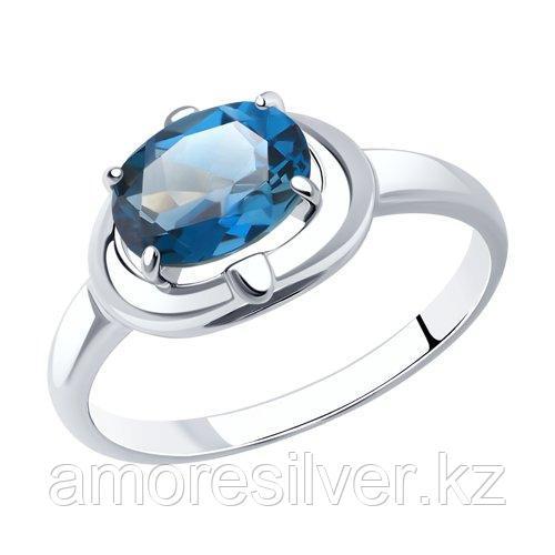 Кольцо SOKOLOV серебро с родием, топаз 92011987 размеры - 19