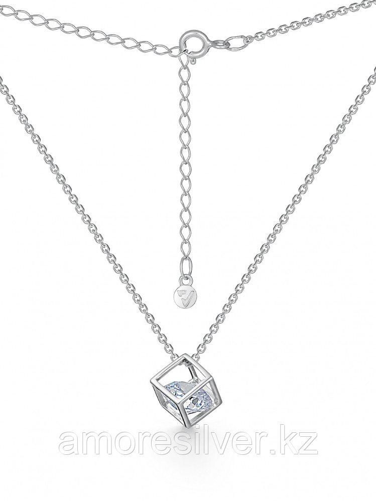 """Колье TEOSA серебро с родием, фианит, """"каратник"""" 10608-0762-CZ размеры - 50"""