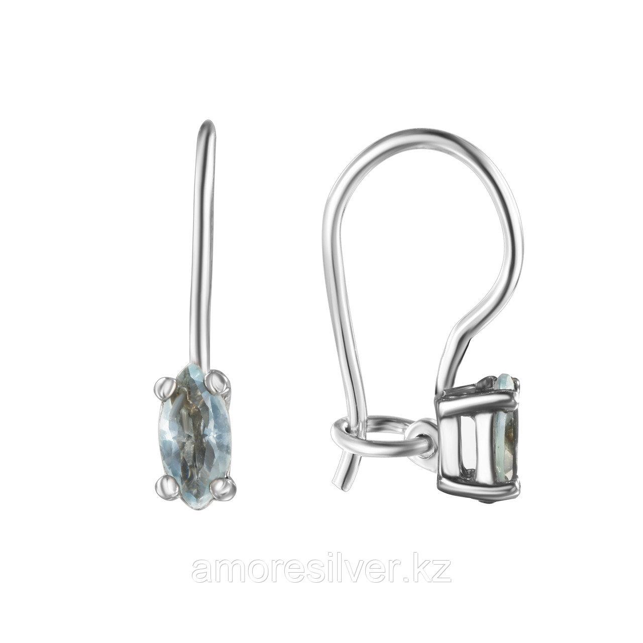 Серьги Аврора-Голд серебро с родием, фианит с15-725г