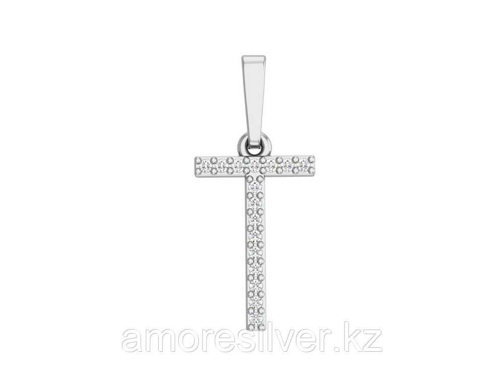 Подвеска Pokrovsky серебро с родием, фианит, буква 0400545-00775
