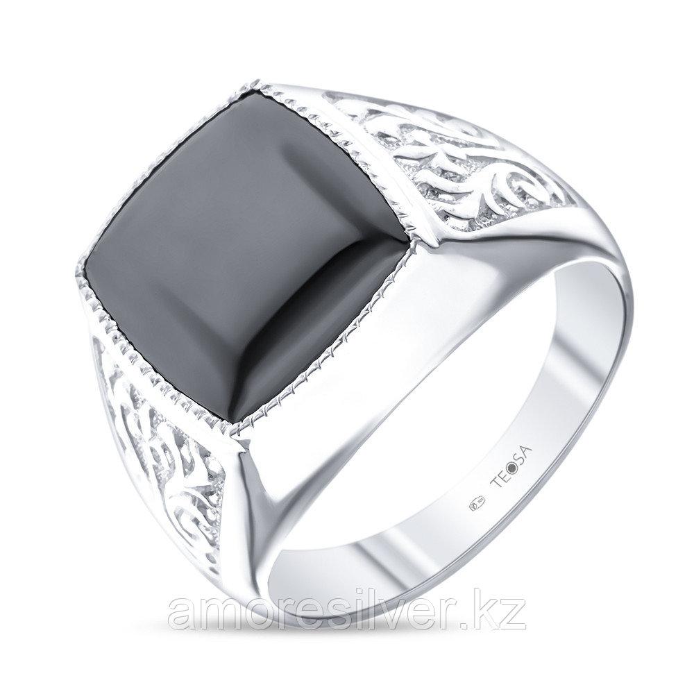 Кольцо Teosa серебро с родием, фианит, классика Т-115039