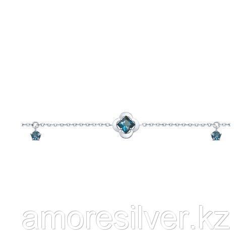 Браслет SOKOLOV серебро с родием, топаз 92050115