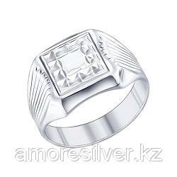 Печатка SOKOLOV серебро с родием, без вставок 94011243