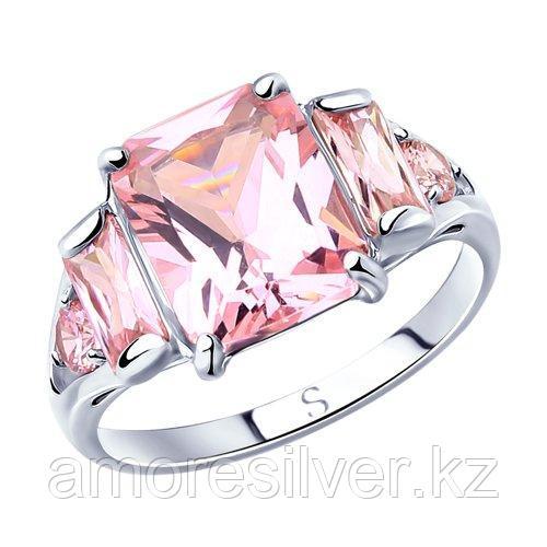 Кольцо SOKOLOV серебро с родием, фианит  94012802