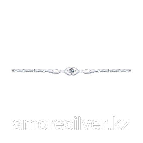 Браслет SOKOLOV серебро с родием, фианит  94050306