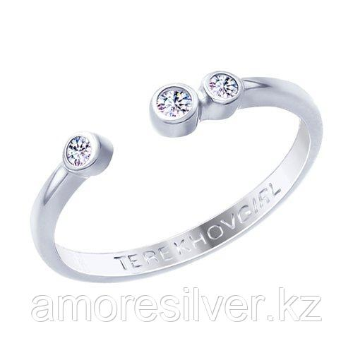 Кольцо SOKOLOV серебро с родием, фианит  94012652