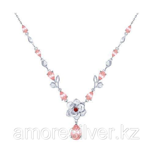 Колье SOKOLOV серебро с родием, фианит  корунд синт. 94070248