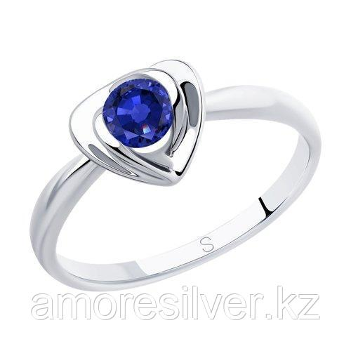 Кольцо SOKOLOV серебро с родием, фианит  94012885