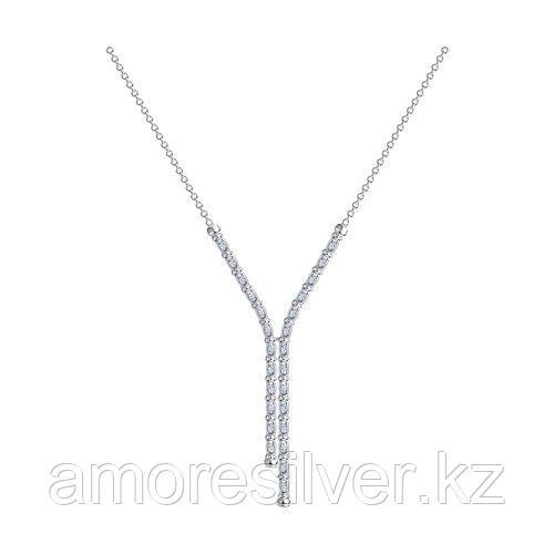 Колье SOKOLOV серебро с родием, фианит  94074557 размеры - 55
