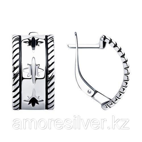 Серьги SOKOLOV из черненного серебра, без вставок 95020063