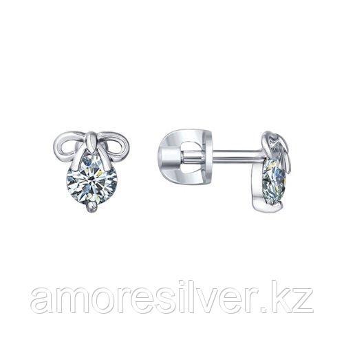 Серьги SOKOLOV серебро с родием, фианит  94021461